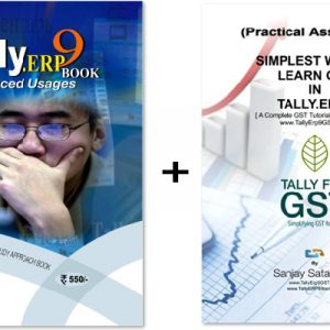Tally.ERP9 Book + GST Assignment Advanced Usage Book